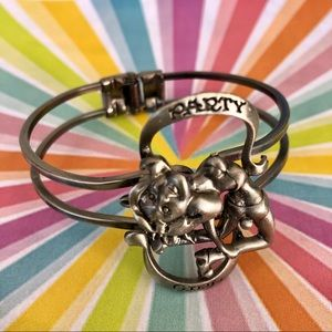 Party Girl spring clasp gunmetal bracelet NWT